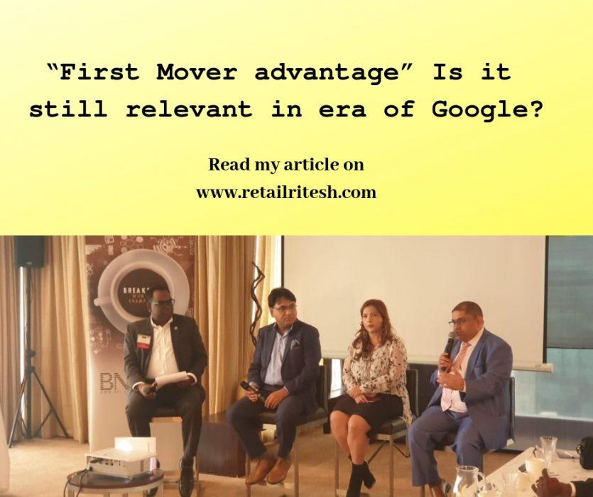 Google Fast mover advantage